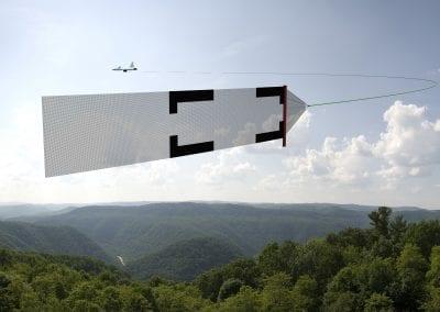 Avião carregando alvo aéreo 2